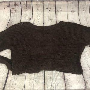 Cejon Sweaters - Cejon beaded cropped tied sweater S/M